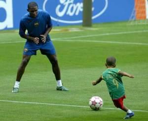 Samuel_Etoo e filho